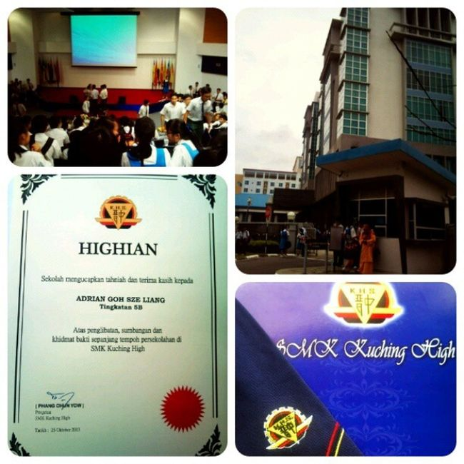 OFFICIALLY GRADUATED. 251013 Kuching High Graduation Ceremony. A day to remember. :)