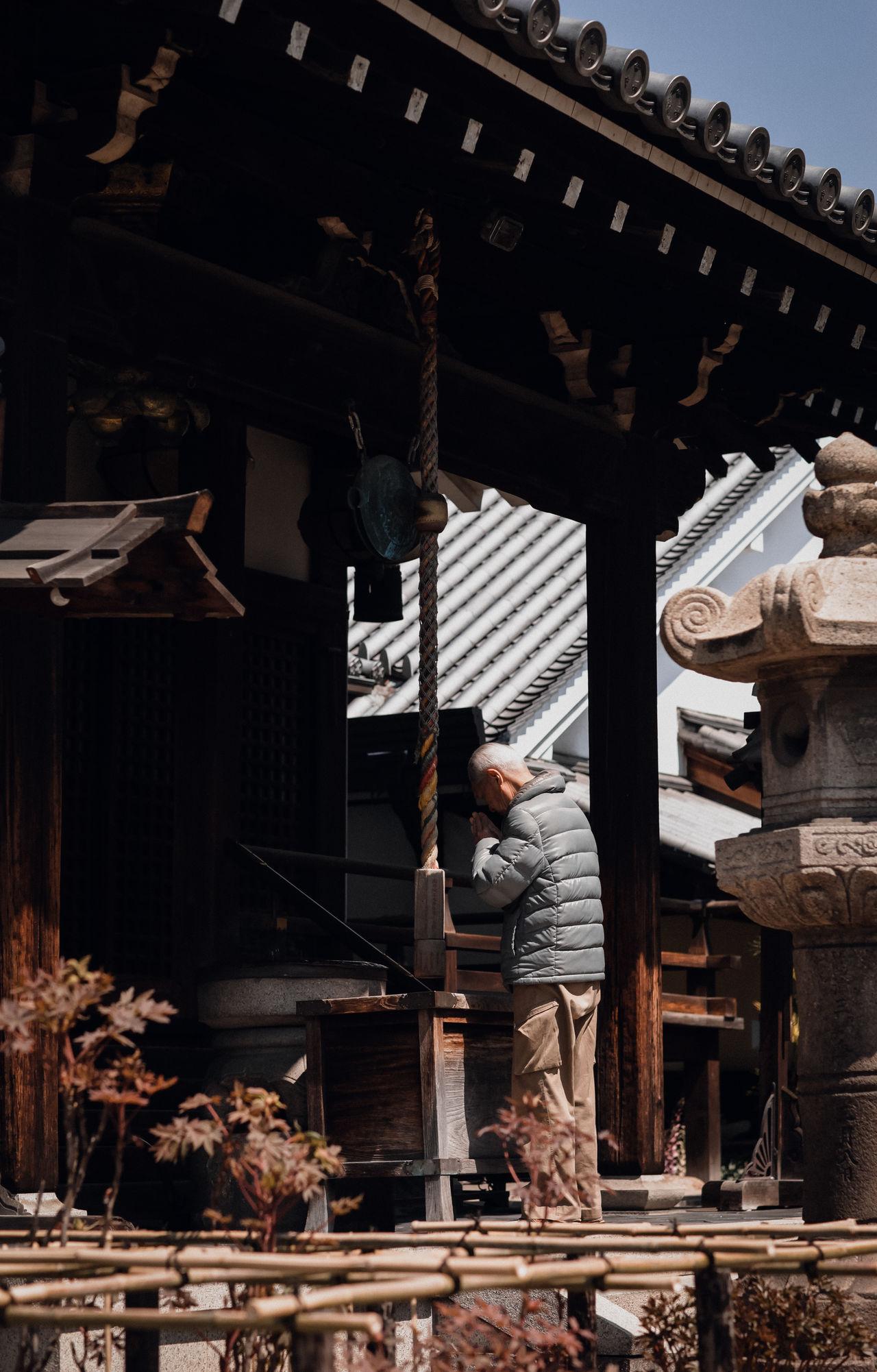 Day Details Exterior Design Japan Japan Photography Man Old Man Outdoors Praying Religion Shinto Shrine Shrine Shrine Of Japan Spring Summer Temple