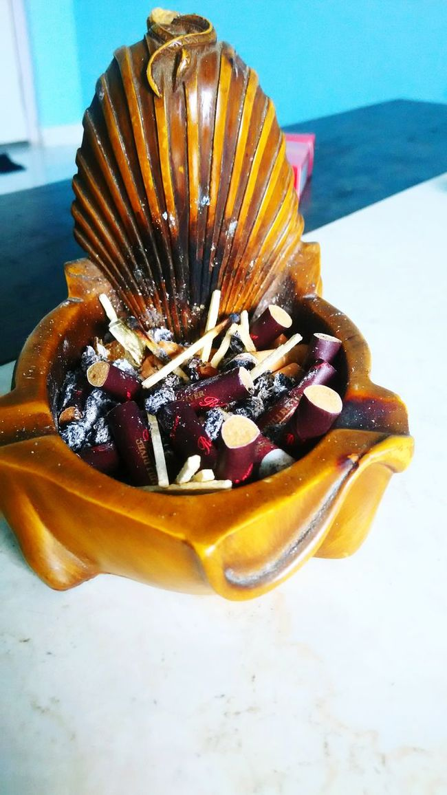 Cigrettes Ashtray  SayNoToTobacco Darkness And Light Lighter & Brighter Bold Colors