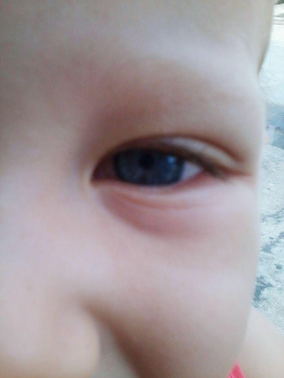 human eye, human body part, one person, close-up, childhood, human face, human skin, real people, looking at camera, portrait, indoors, sensory perception, day, human hand, eyelash, eyeball, people