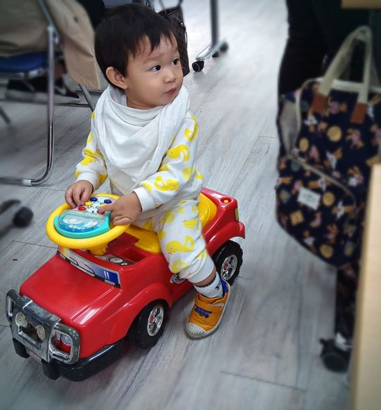 Baby Childhood Babies Only Human Body Part Playing ToyCar Driving Learning