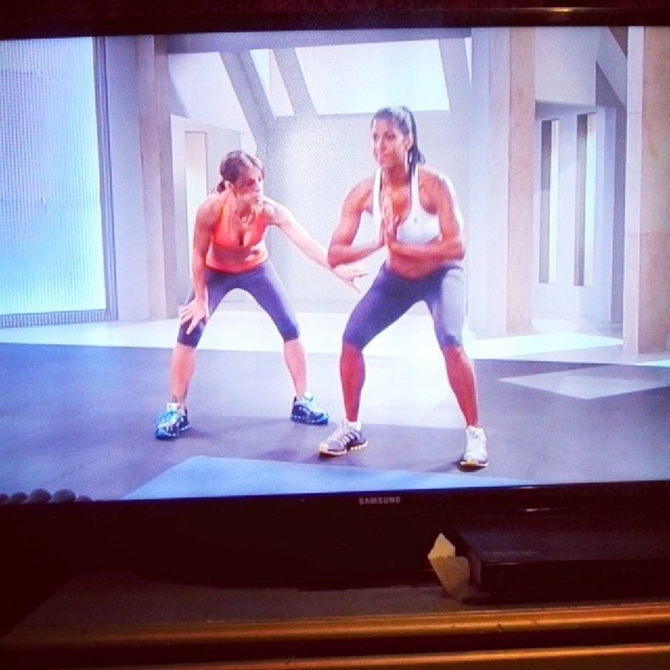 Work outs I did at home Thechallenge Abs Buns Thighs its just the beginning of my journey