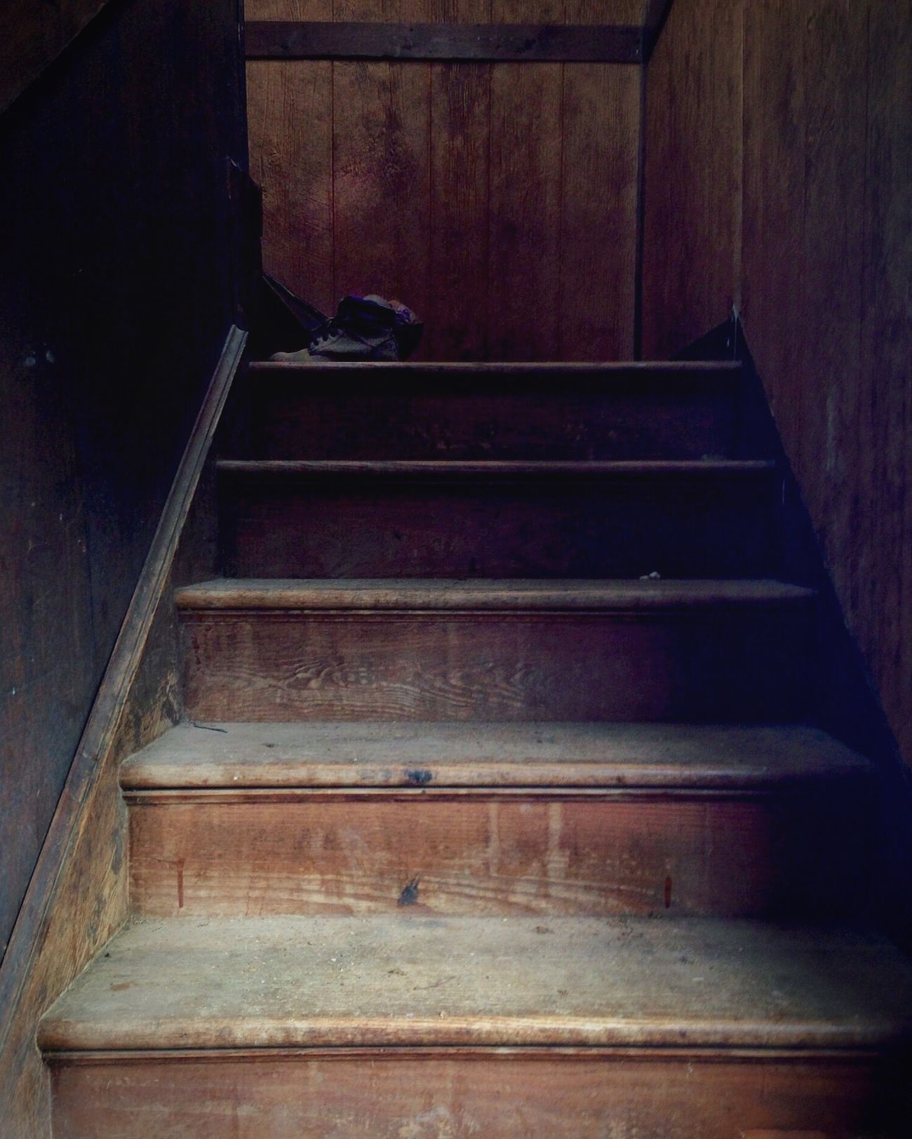 Stairways At The Barn even the stairs up to the apartment quckly become weathered and worn.