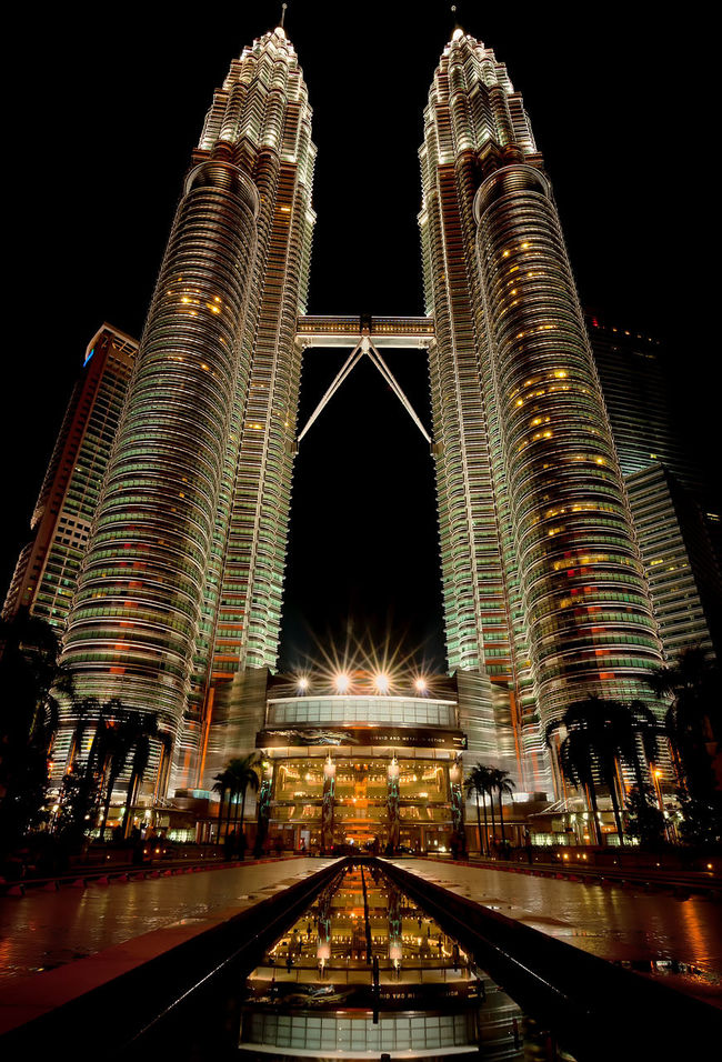 Night Scene At KLCC Petronas Twin Tower Kuala Lumpur Architecture Building Building Exterior Built Structure Capital Cities  Cityscapes Engineering KLCC Tower KLCC Twin Towers Lights Mall Modern Modern Architecture Night Lights Night View Office Building Park Petronas Twin Towers Shopping Sky Bridge Skyscraper Technology Towers Twins Urban