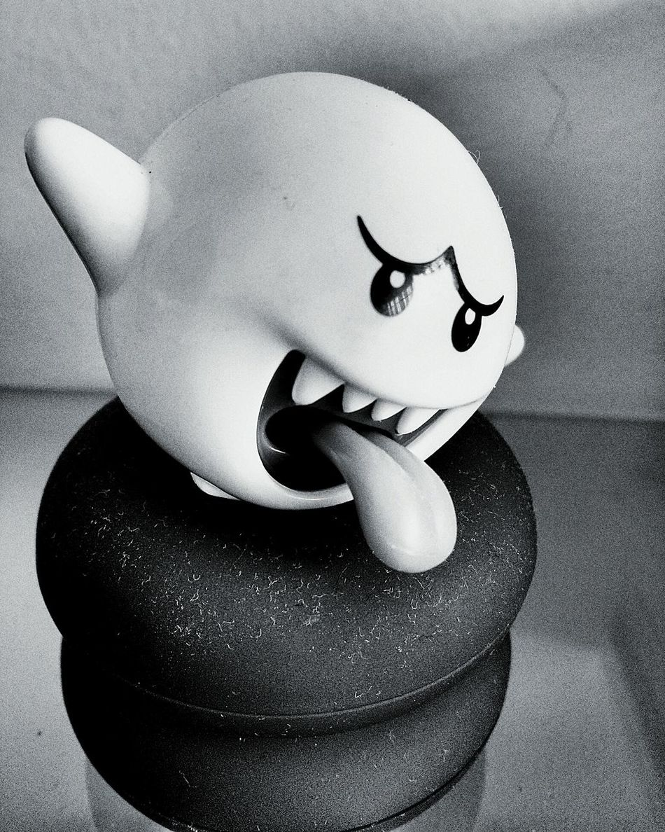 Mariobros Gohst Black & White Blackandwhite Game Toy Funny Phtography Photo Retro