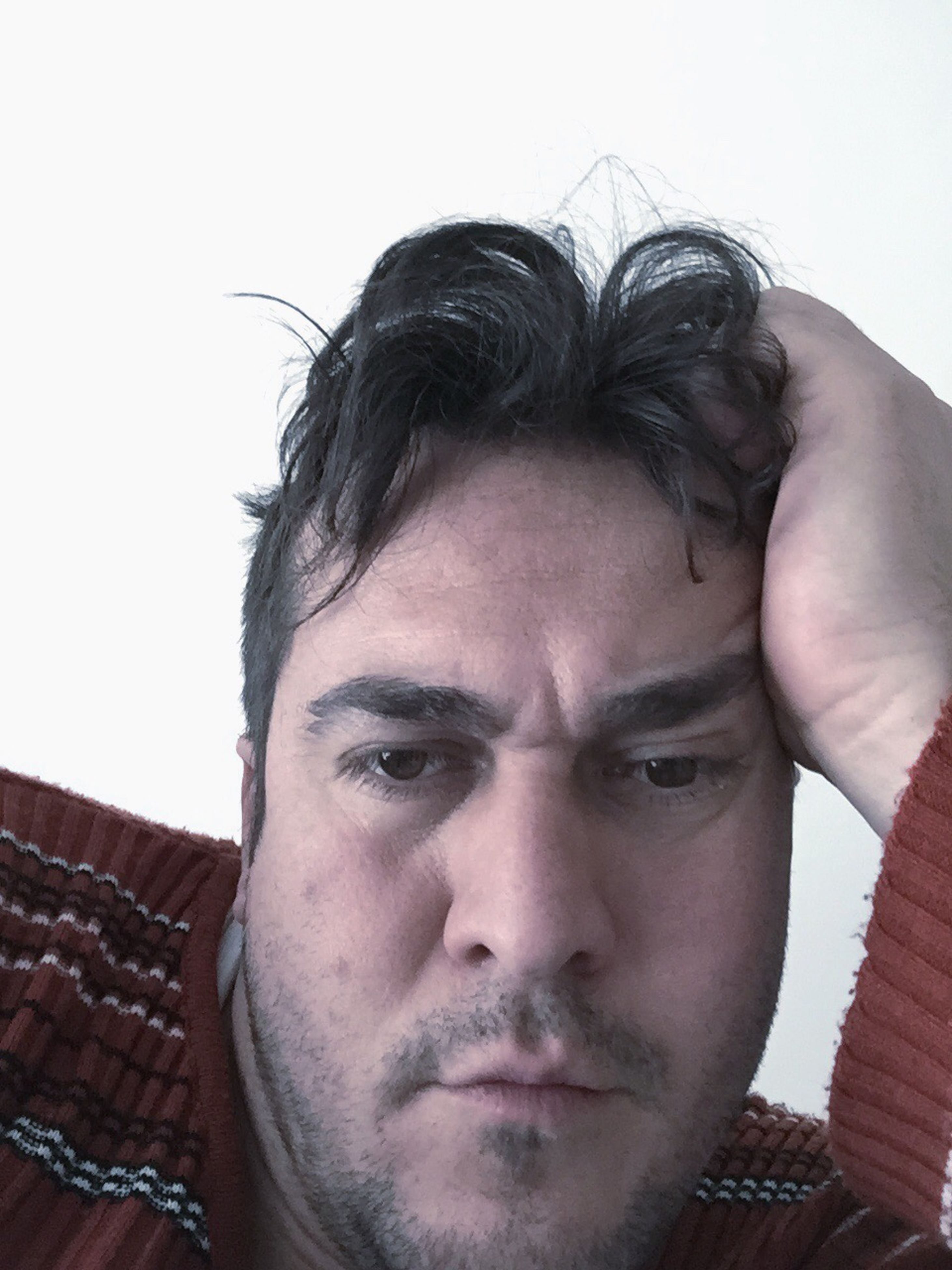 young adult, headshot, person, looking at camera, lifestyles, portrait, young men, front view, close-up, leisure activity, indoors, mid adult, beard, head and shoulders, human face, mid adult men, contemplation