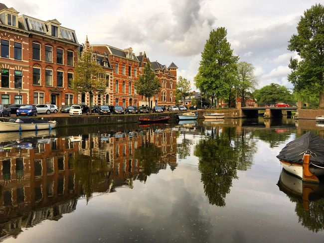 Reflection Reflection_collection Haarlem Dutch Canals