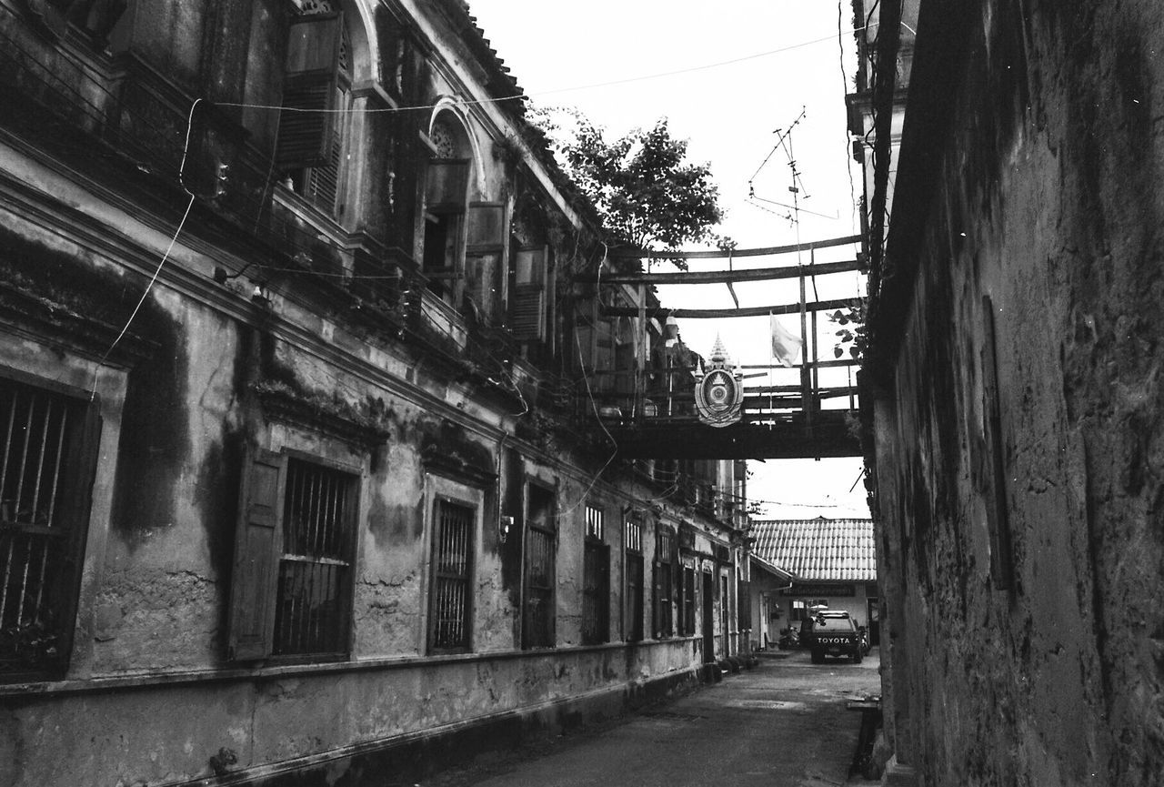 Bang Rak Fire Station Architecture Built Structure Window Building Exterior Day No People Outdoors City Sky Scan From Film Black And White The Secret Spaces