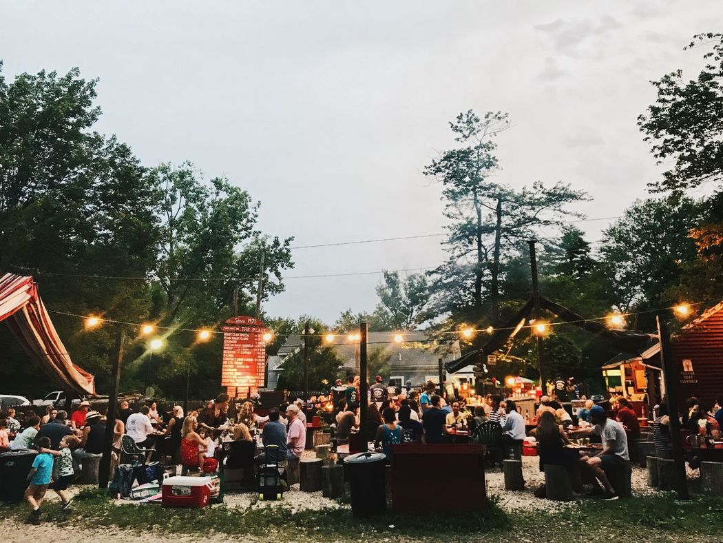 Barbecue Outback Wilderness Cooking Large Group Of People Tree Real People Sky Men Outdoors Leisure Activity Women Illuminated Architecture Built Structure Building Exterior Lifestyles Group Of People Day City Crowd Nature People EyeEm Gallery EyeEm