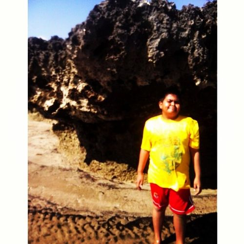 My lil brother Latepost Nofilter Beach Rote nature 2013