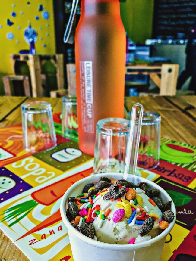 Hot sunny day 🌞 Ice Cream Hello World Relaxing 2016 Awesome! IPhoneography Check This Out Enjoying Life Hot Day Chillout Malaysia Colourful Sweet Happy :) Chillin' Coolin' ❄