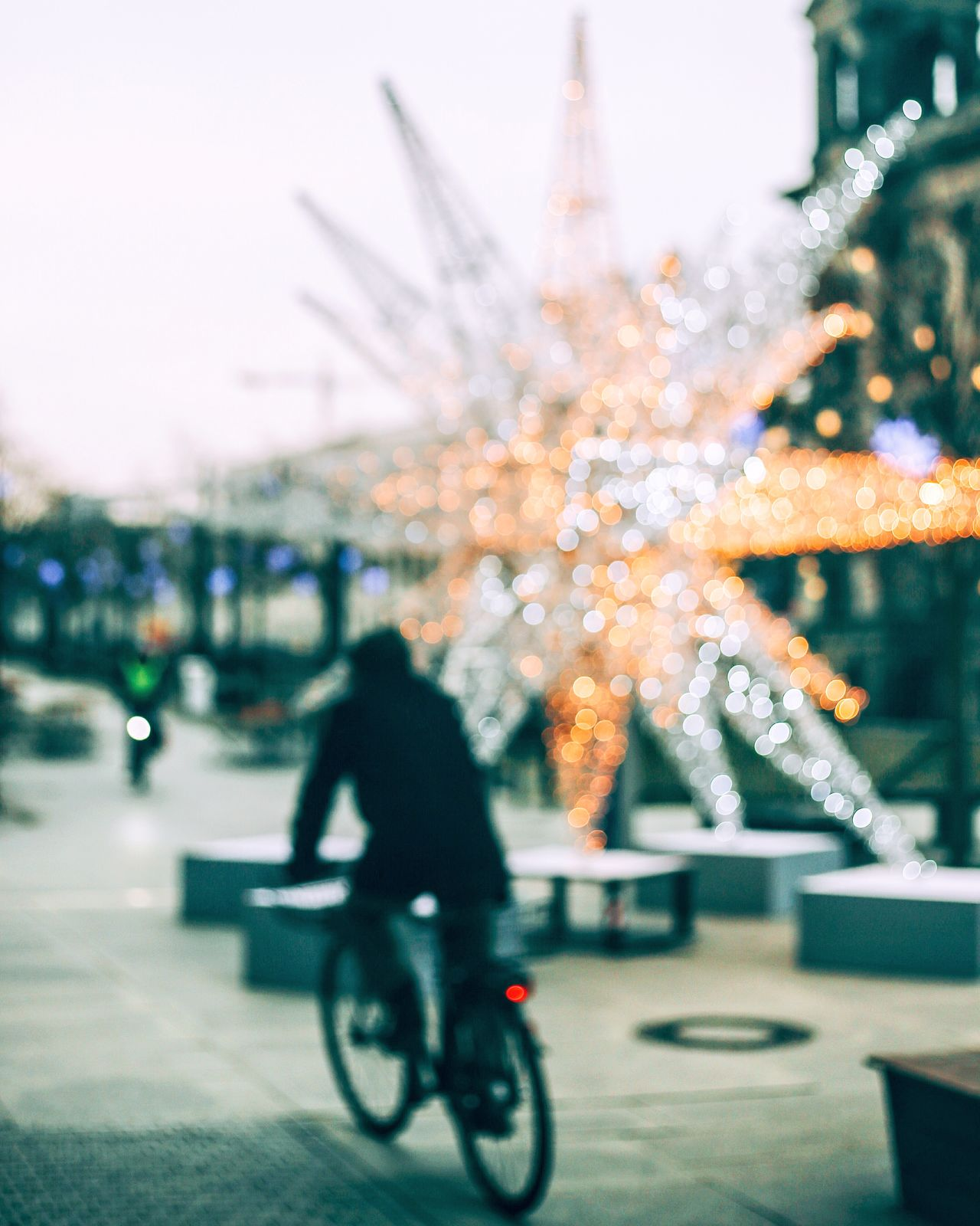 Traveling Home For The Holidays Bicycle Riding Cycling Blurred Motion Motion Defocused Transportation Building Exterior Land Vehicle Speed Outdoors Illuminated Architecture People One Person Day Adult Urbanphotography EyeEm Best Shots EyeEm Deutschland