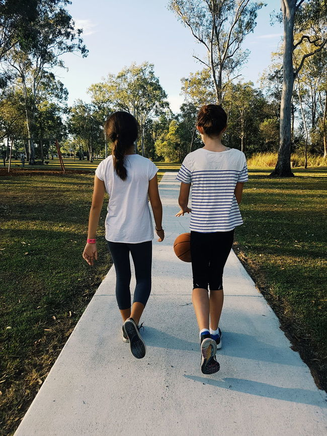 Our Birthday Girl and a good friend, Hanging Out to celebrate 11 years of life last weekend 💙 Girl Power Australia Brisbane Friends VSCO Vscoaustralia Vscophile Get Outdoors Basketball Feel The Journey Natural Light Portrait S Showcase June People And Places
