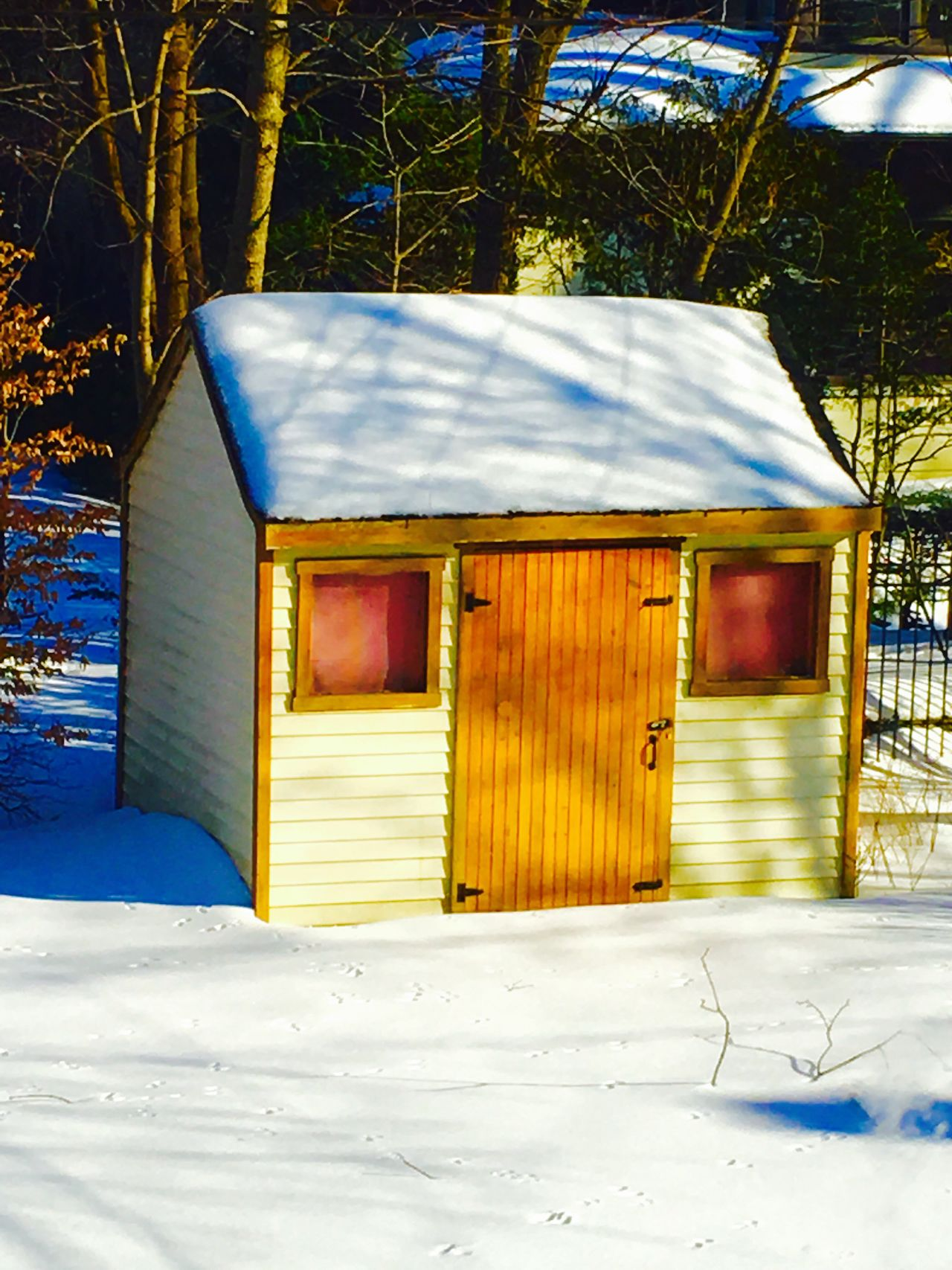 Cabanon Neige Hiver Winter Shack Iphone6s Shotwithiphone6S