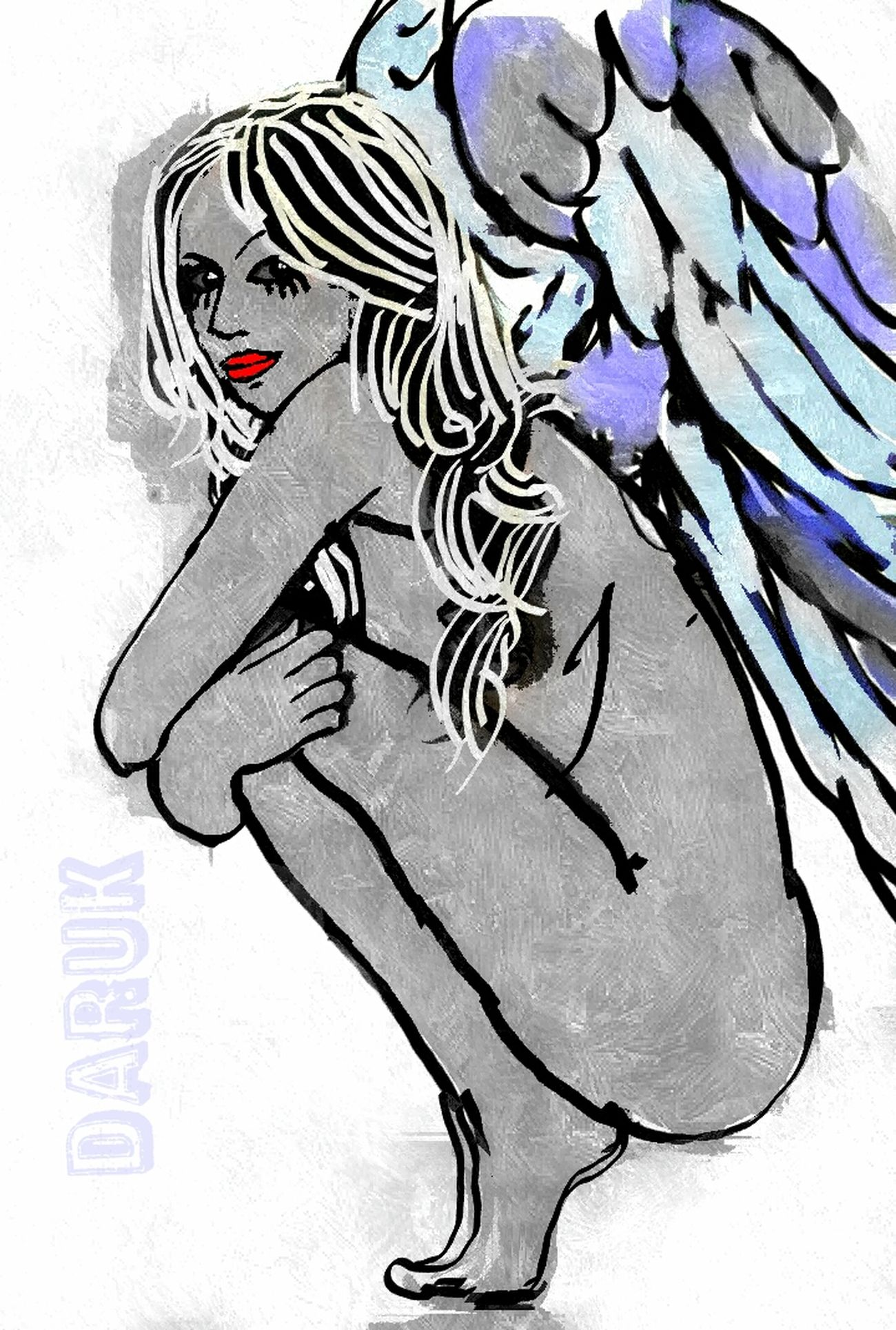 Eye4enchanting Human Figure Lines, Shapes And Curves Artforever Bold And Beautiful Malicious Angel