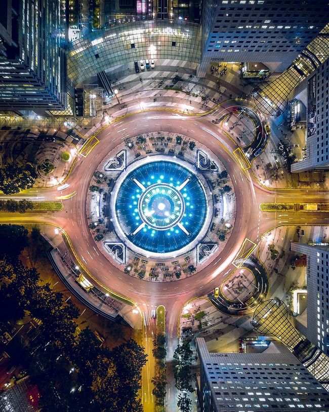 Arc Reactor DJI Mavic Pro Dji Droneshot Dronephotography Drone  Aerial View Singapore Architecture Illuminated Aerial View City High Angle View Built Structure Road Cityscape Night Modern No People Building Exterior Travel Destinations Futuristic Outdoors