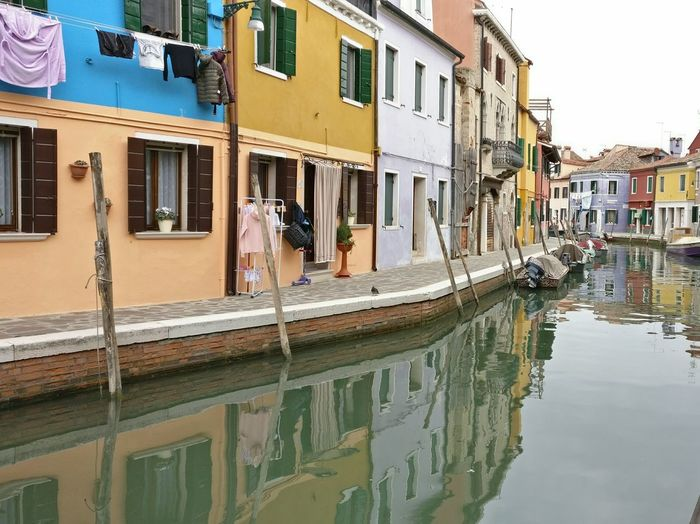 Cozy houses to live Architecture Water Reflection Canal Tranquility