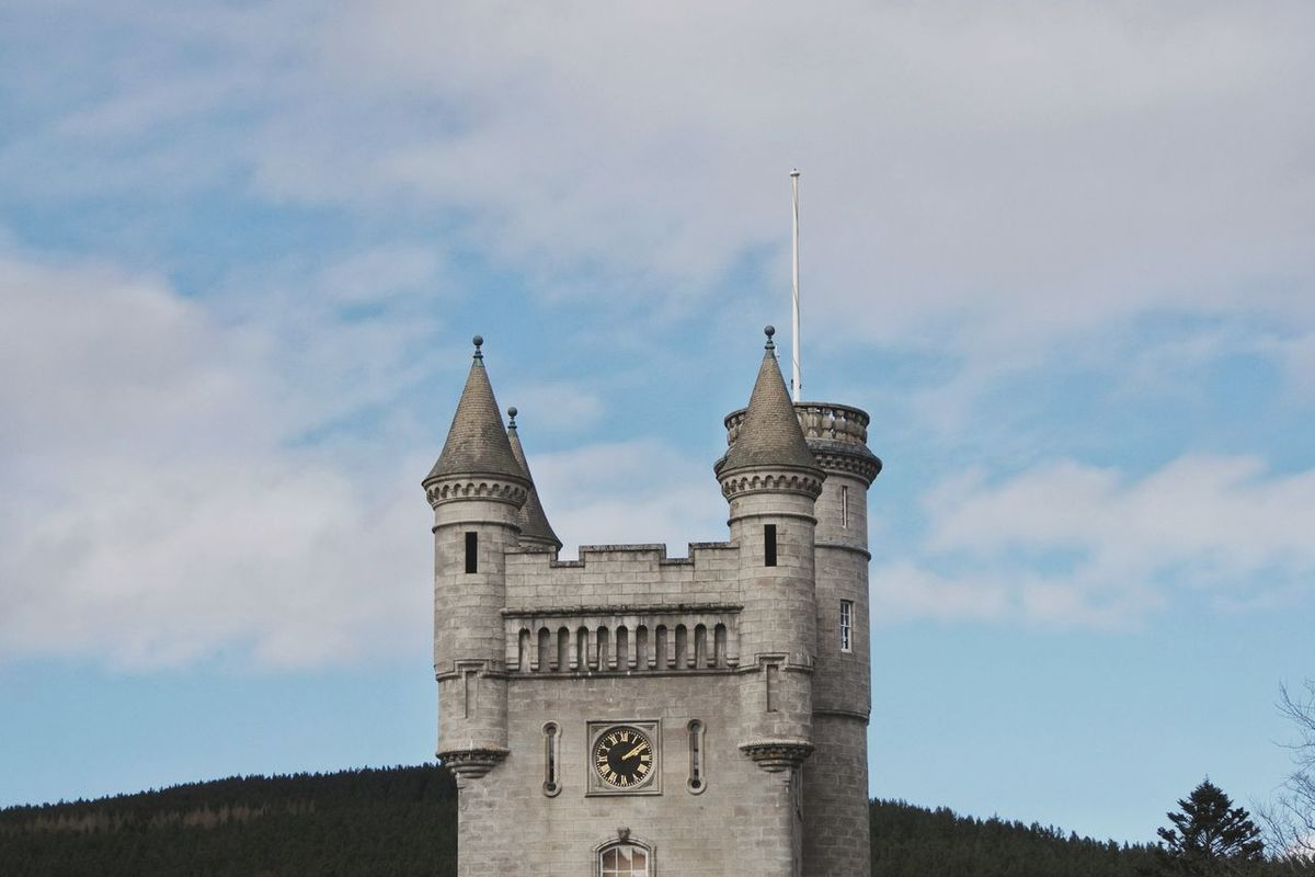 Balmoral Castle Architecture Tower Cloud - Sky Sky Clock Tower Clock Outdoors No People Travel Destinations History Uk Balmoral Aberdeenshire Scotland Balmoral Castle Highlands Royal Deeside Castle Built Structure Architecture Building Exterior Travel