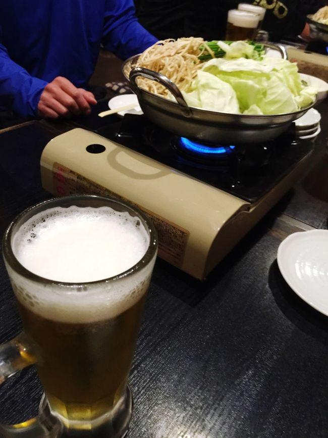 新年会 ♪(*^^)o∀*∀o(^^*)♪ もつ鍋 美味い(#^.^#) 生ビール Bier