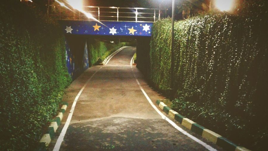 The Way Forward Diminishing Perspective Underpass Illuminated Built Structure
