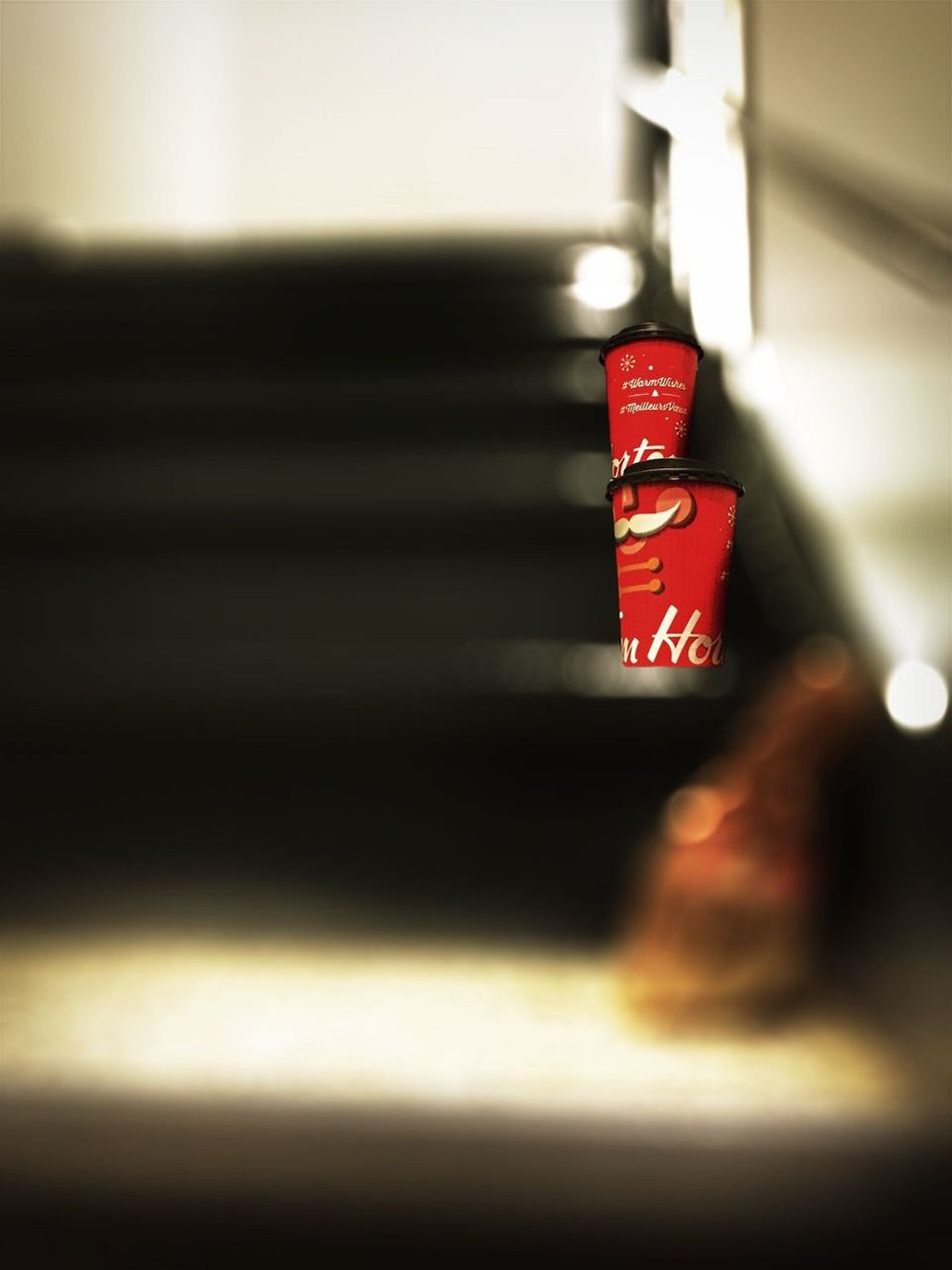Chance Encounters Timhortons on Stairs Tim Hortons  Coffee Coffee Time Coffee Break Coffee And Sweets Iphone6 Bokeh