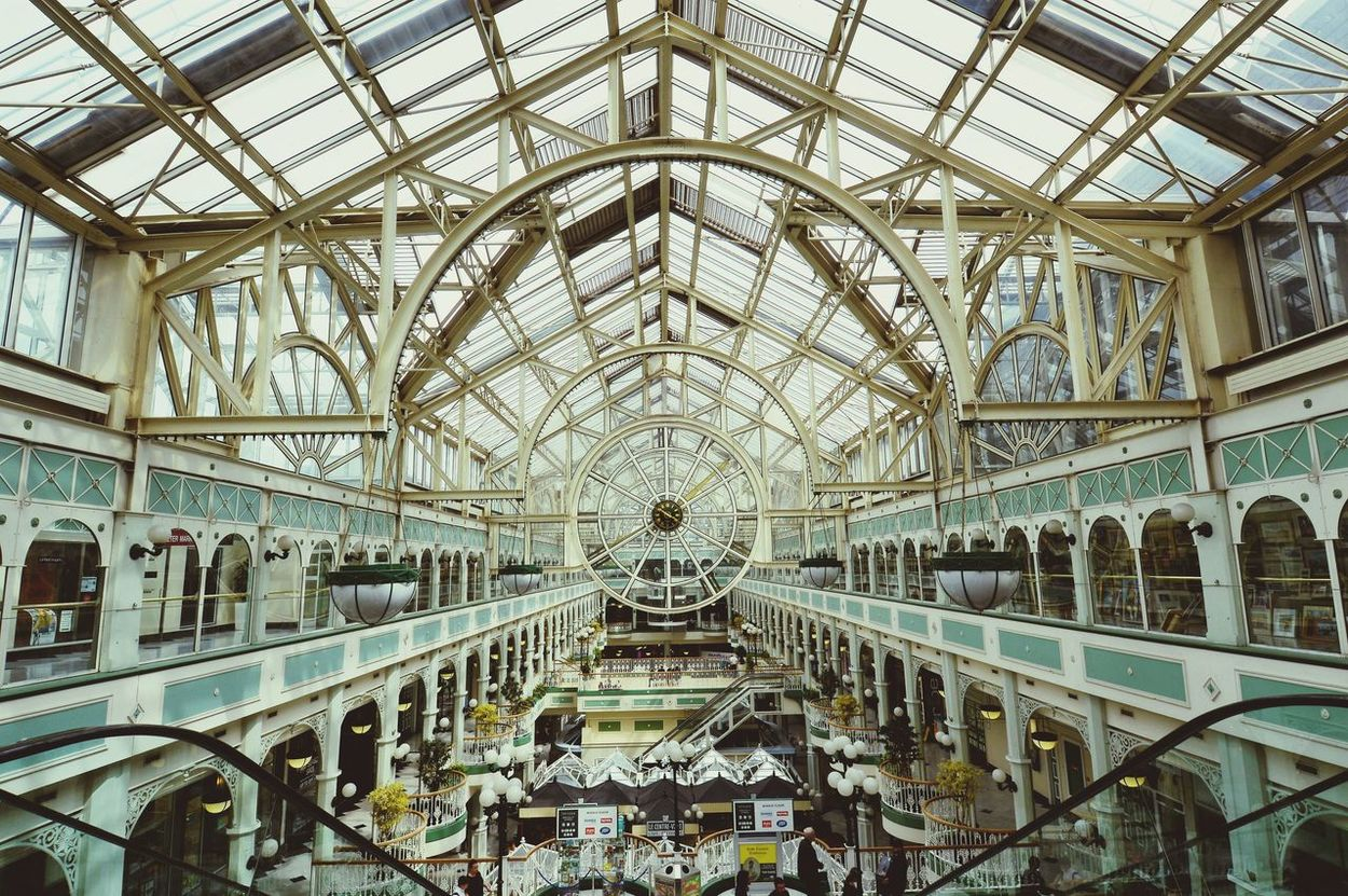 Architecture Indoors  Architectural Feature Built Structure Travel Destinations Dublin, Ireland Igersdublin IGDublin VisitDublin Ilovedublin Ireland🍀 Ireland Dubliner Europe_gallery Igeurope Igersireland Igerseurope Igireland Dublin City Stephensgreen Shopping Center Shopping Time Shopping ♡ Ceiling Pattern