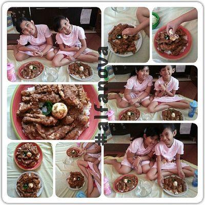 My @elfacaca dengan Nasiupaupa Alfanova Tepocece Kulinersidimpuan tradisi batakangkola batakmandailing