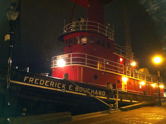 tugboat at Broadway Pier by Steve