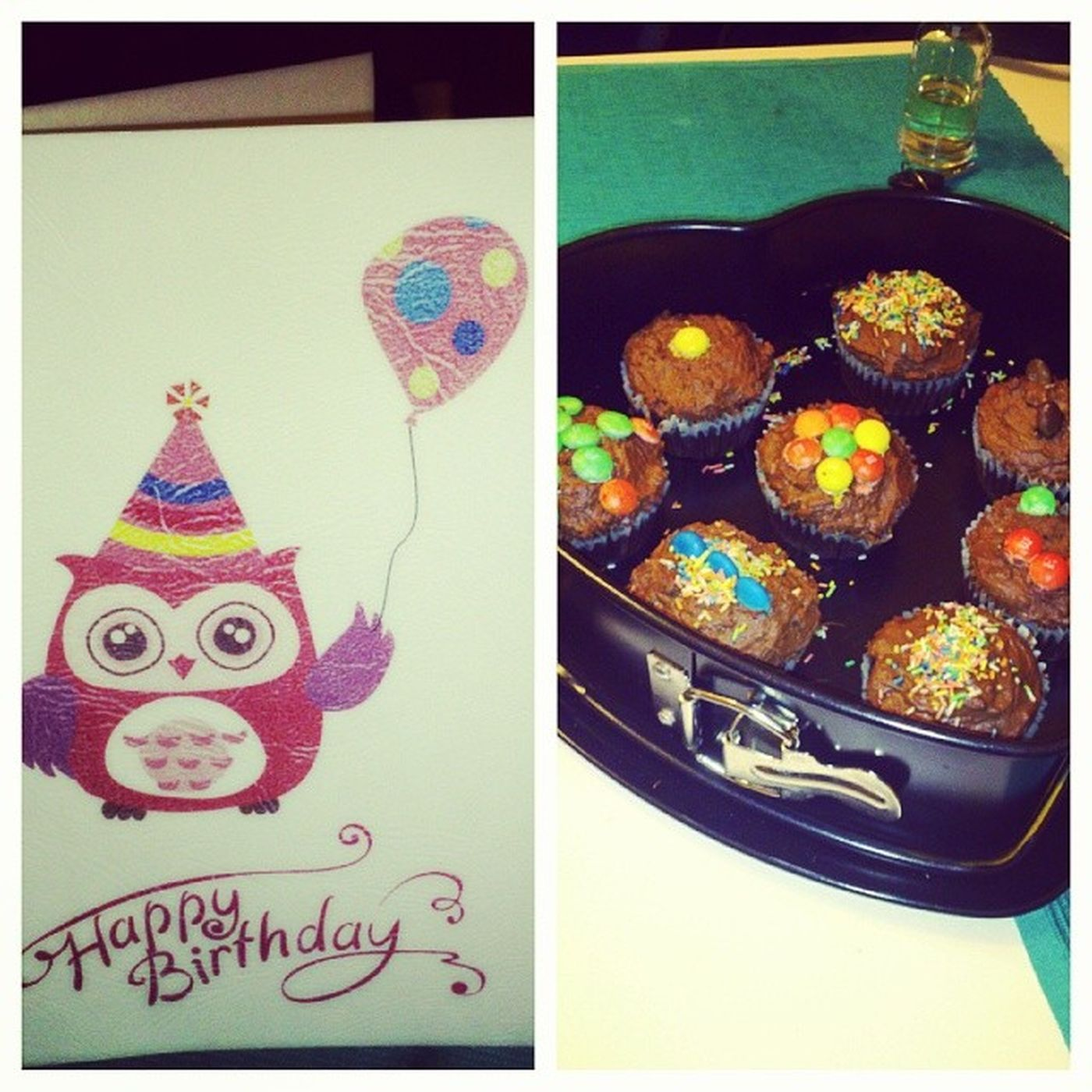 Happy birthday @tubarozsa HappyBirthday Birthday Gift Cake Smarties Greetingcard
