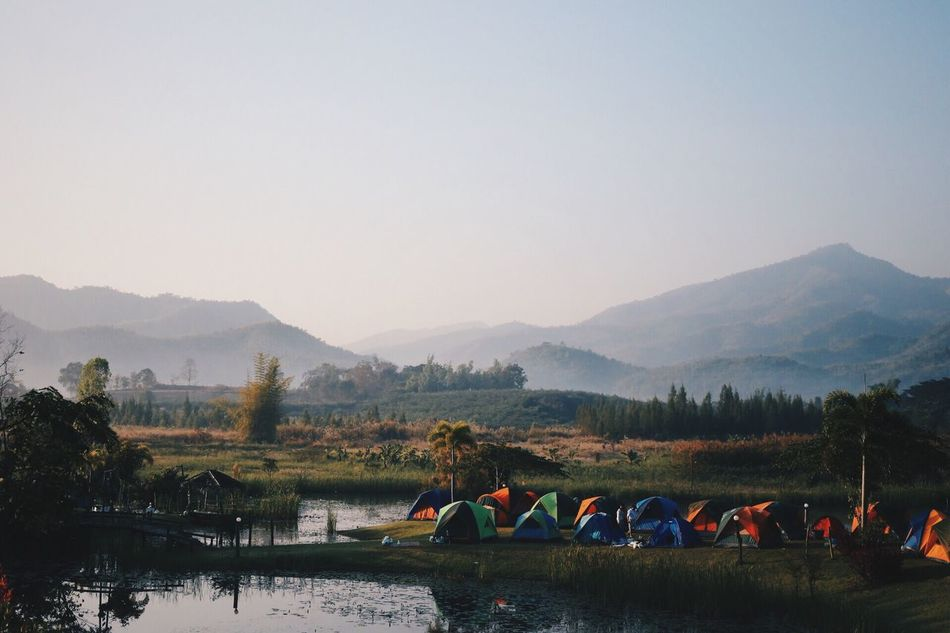 Beautiful stock photos of camping, Beauty In Nature, Camping, Campsite, Clear Sky