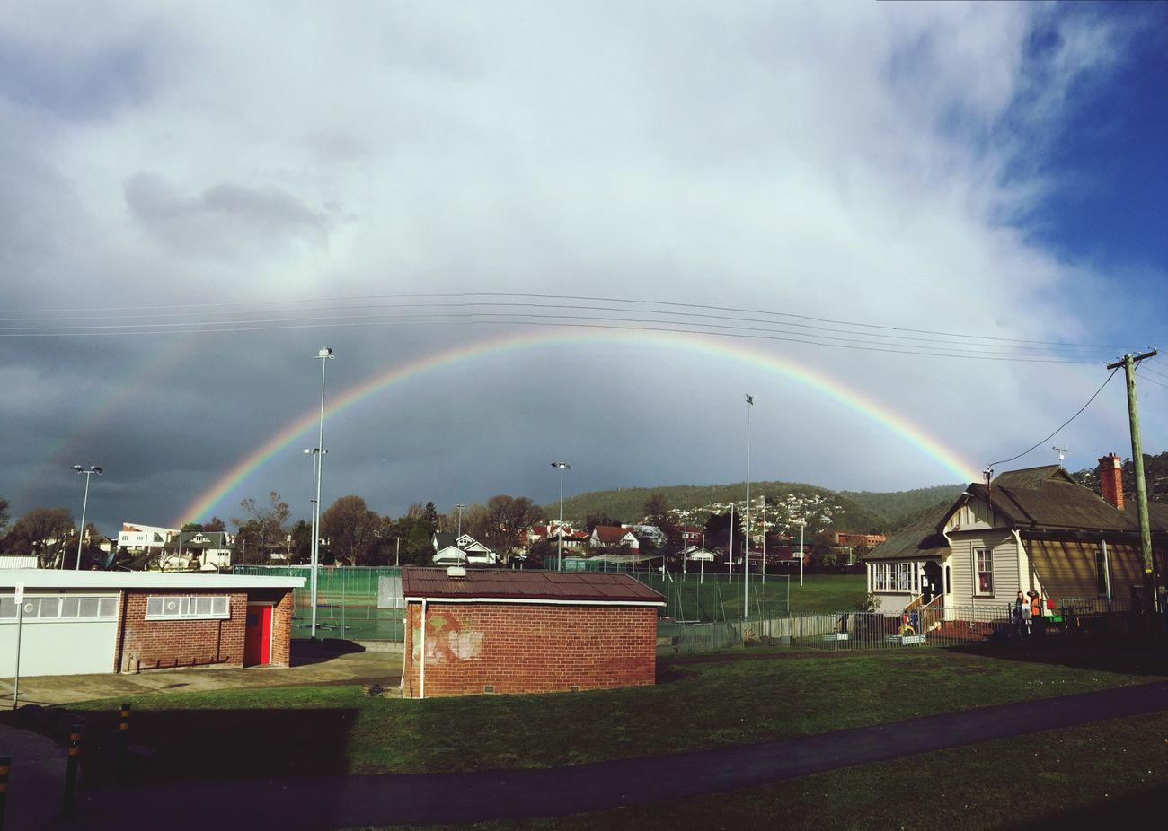 Today's rainbow Panoramic Rainbow Tasmania