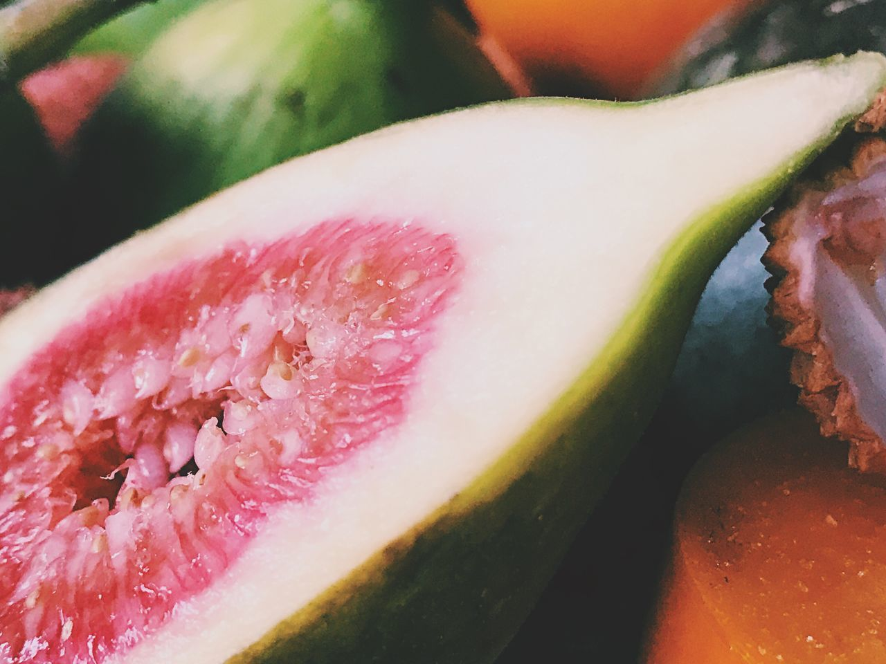 Freshness Fruit Healthy Eating Close-up Food And Drink SLICE Food Citrus Fruit Juicy No People Halved Cross Section Grapefruit Indoors  Day Fig Figs Fruits Tabletop Close Up Closeup Food Photography Still Life Photography Exotic Fruits Exotic Fruit