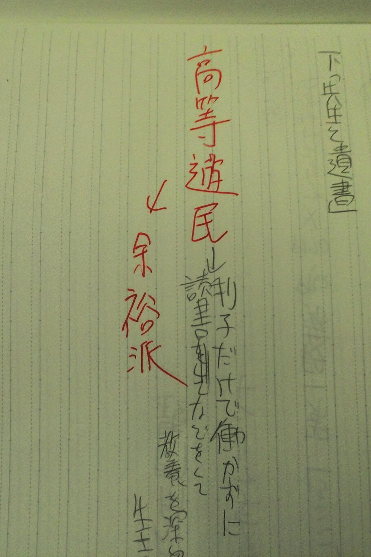 高等遊民 夏目漱石 余裕派 Dream なりたい。