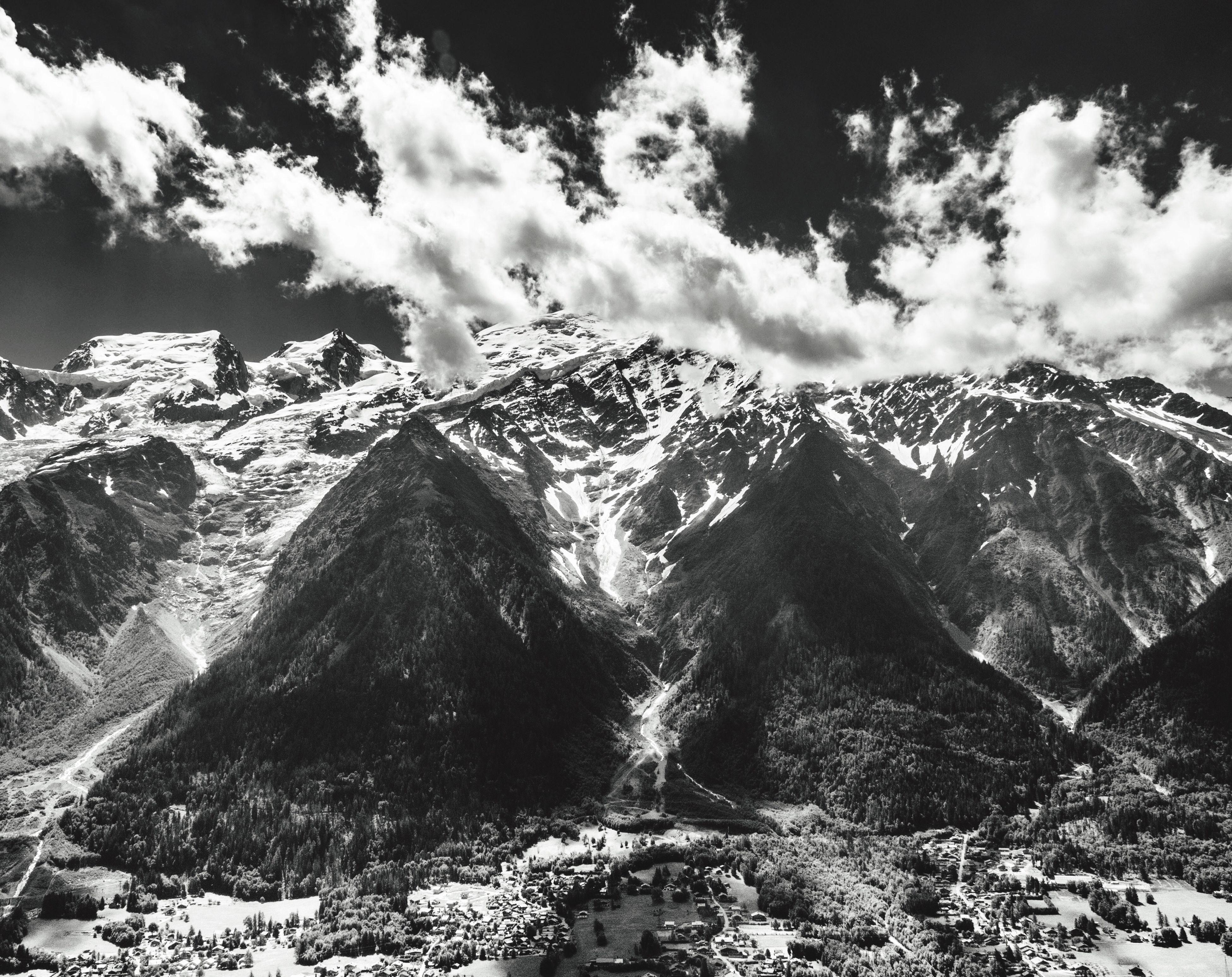 Cloudy White Mount Landscape Nature Mont Blanc Travel Wanderlust Black And White Noir Et Blanc Monochrome Wanderlust Ourdies