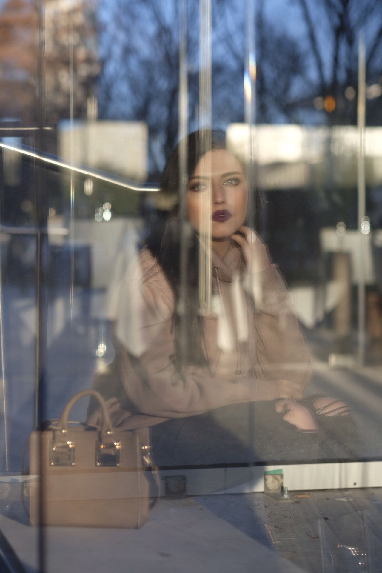 Reflection Beautiful Woman One Person Women Real People Young Women Businesswoman One Woman Only Leisure Activity Business Only Women Young Adult Technology Smiling Tree Indoors  One Young Woman Only Day Adult People Fresh On Market 2017