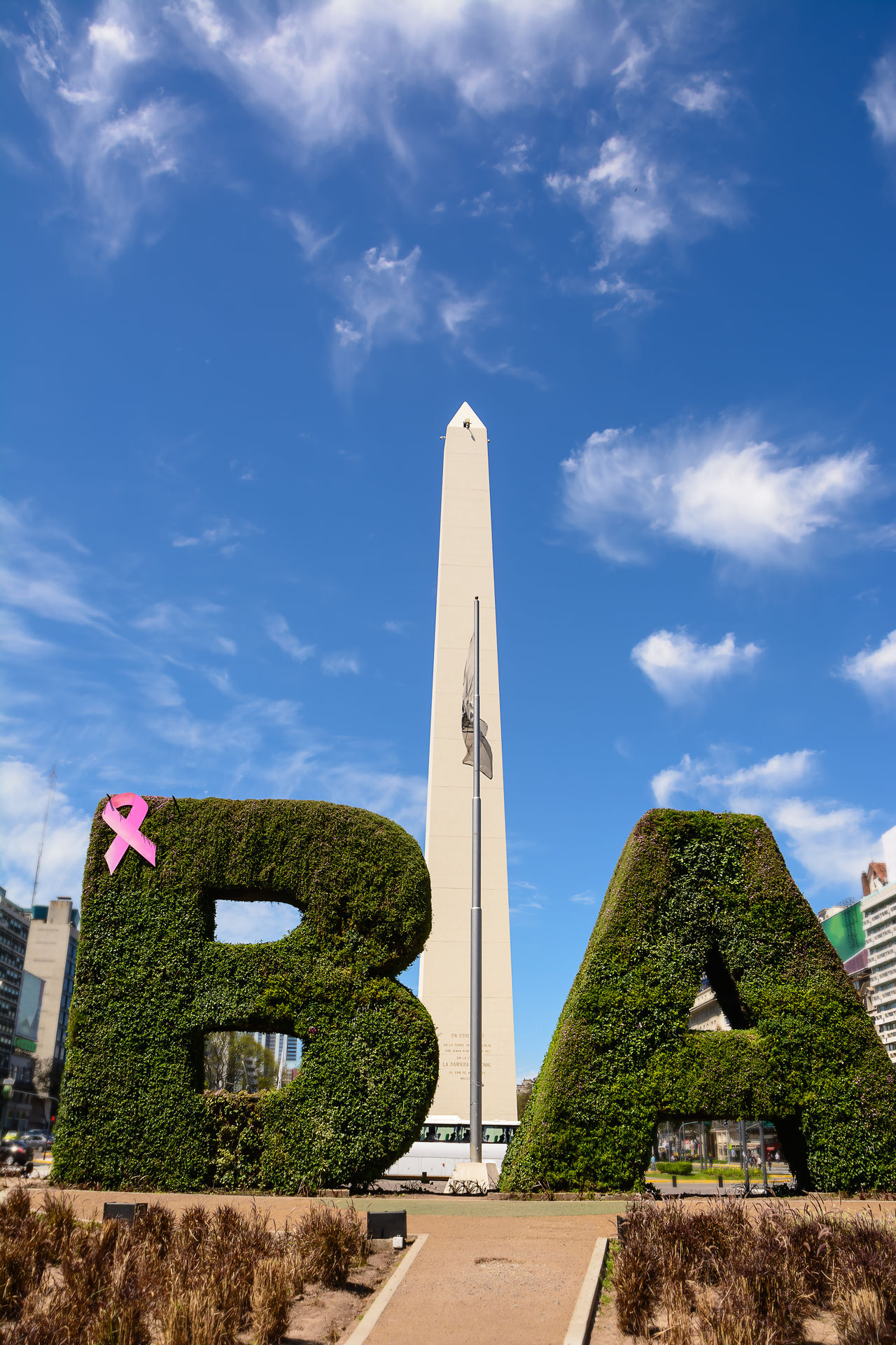 America Argentina Avenue Ba Blue Buenos Aires Buildings Capital City Cityscape Ciudad Autónoma De Buenos Aires Day Hedge Landmark Latin Monolite Monument Obelisc Obelisk Sky Street Text Tourism Urban Written
