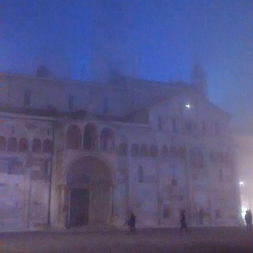 Taking Photos November Foggy Day Piazza Grande Duomo Architecture At Night