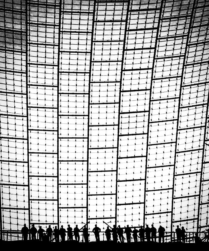 Built Structure Façade Monochromatic Blackandwhite Photography Structures & Lines Architecture Streetphoto_bw Bnw_captures Building Olympiastadion München