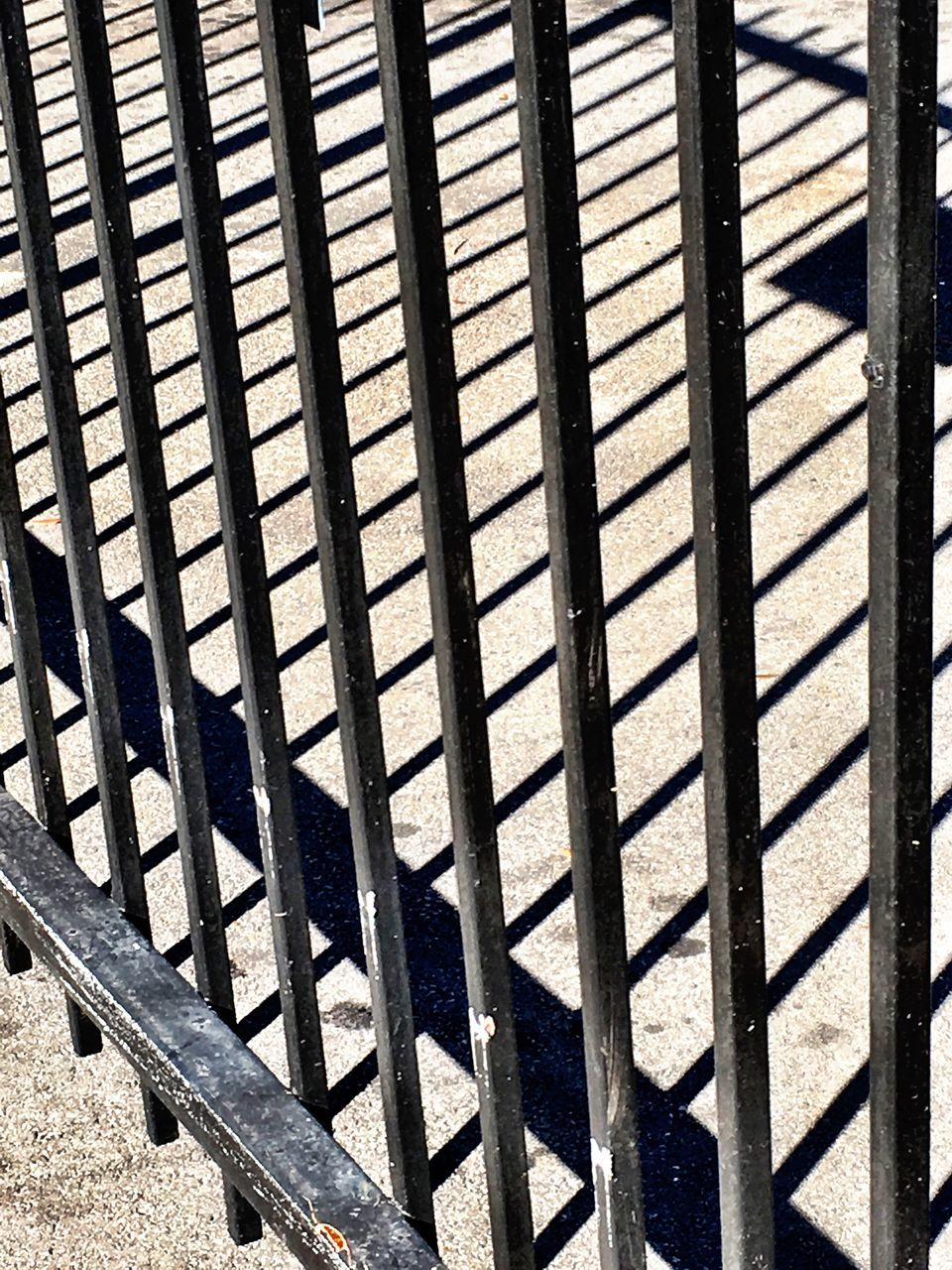 metal, pattern, day, high angle view, no people, outdoors, sunlight, shadow, backgrounds, close-up