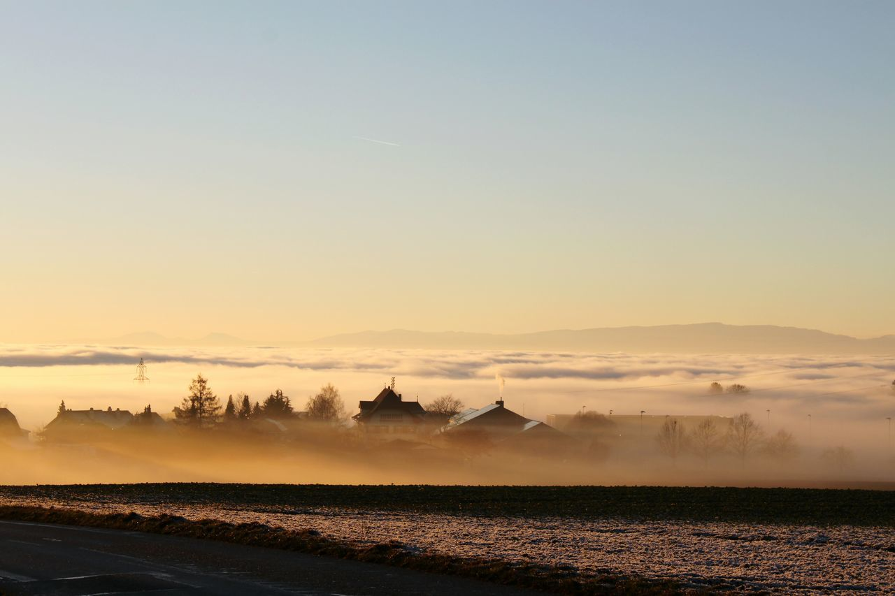 Fog Nebel Nebelmeer Nebelschwaden Landscape Landschaften HJB Schweiz Schweiz 🇨🇭, Abendstimmung