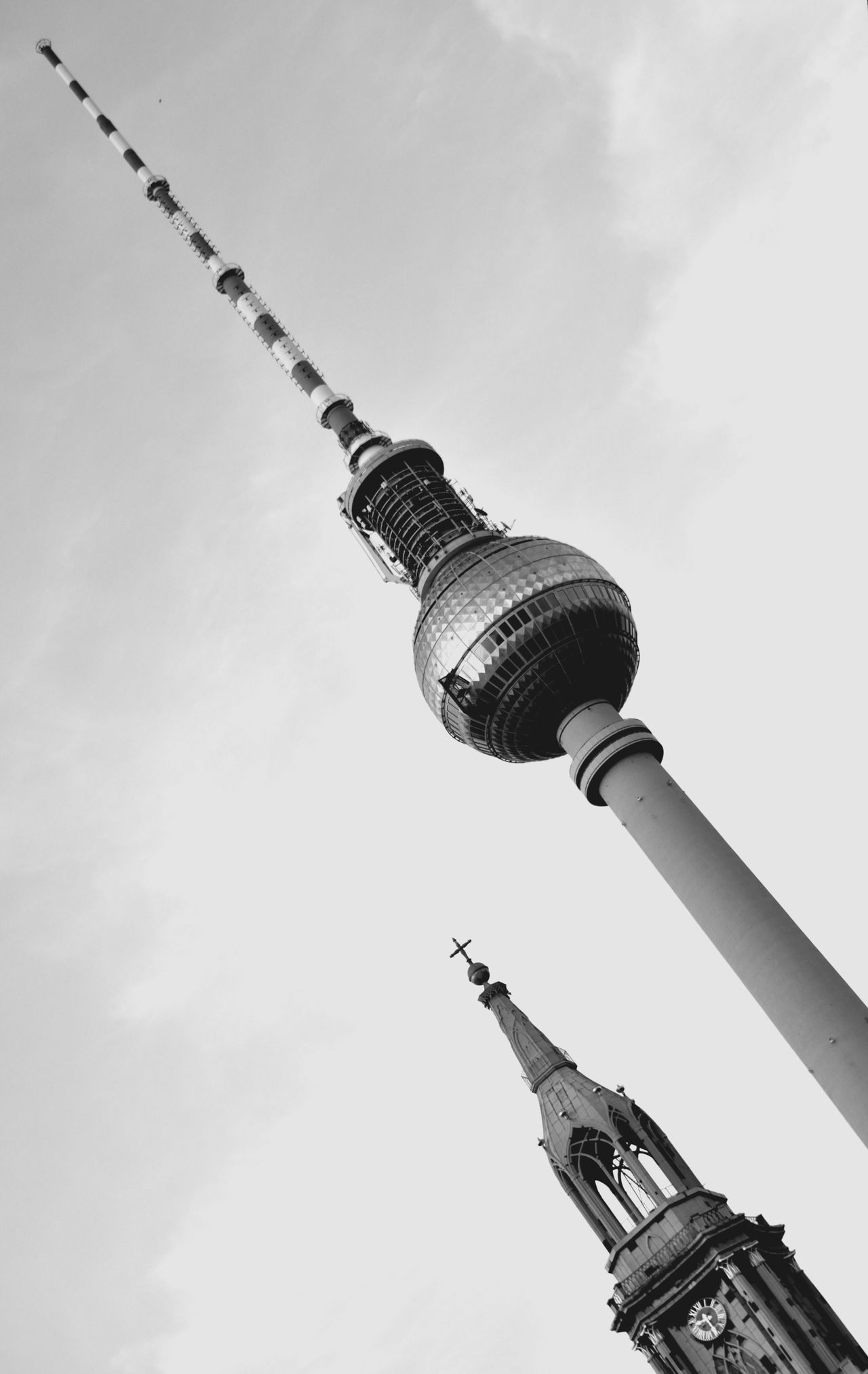 Architecture Low Angle View Tall - High Built Structure Building Exterior Tower Day Communication Outdoors Travel Destinations Sky Television Tower No People City Fernsehturm Berlin  Berlin Photography Tvtower Berlin Alexanderplatz [ Tvtower #berlin #alexanderplatz Tvtowerberlin Tvtower City