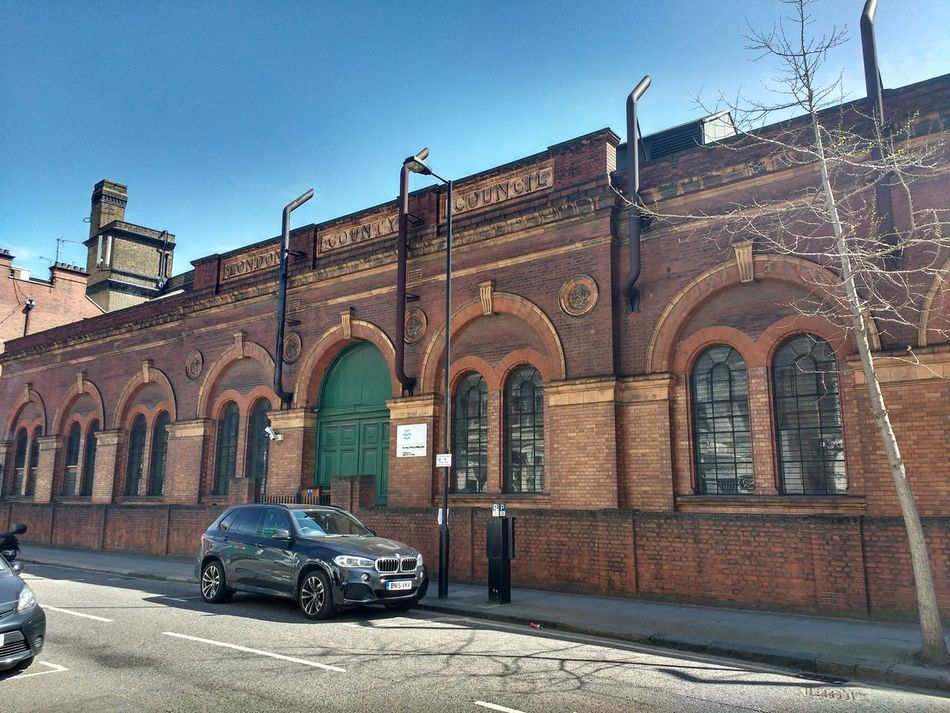 Lots Road Pumping Station, Chelsea, London. Arch Architecture Building Exterior Built Structure Car Chelsea City Clear Sky Day History London Lots Road No People Outdoors Pumping Station Sky Transportation Travel Destinations