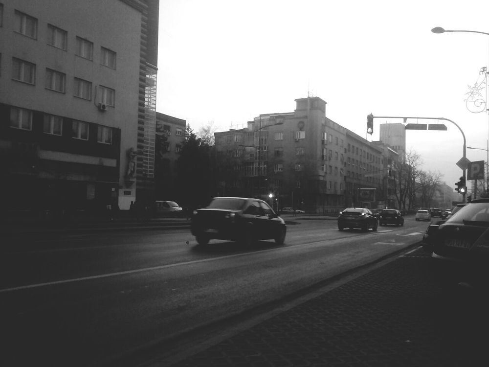 Novisad Traffic Taking Photos Hello World Shittyweather Blackandwhite