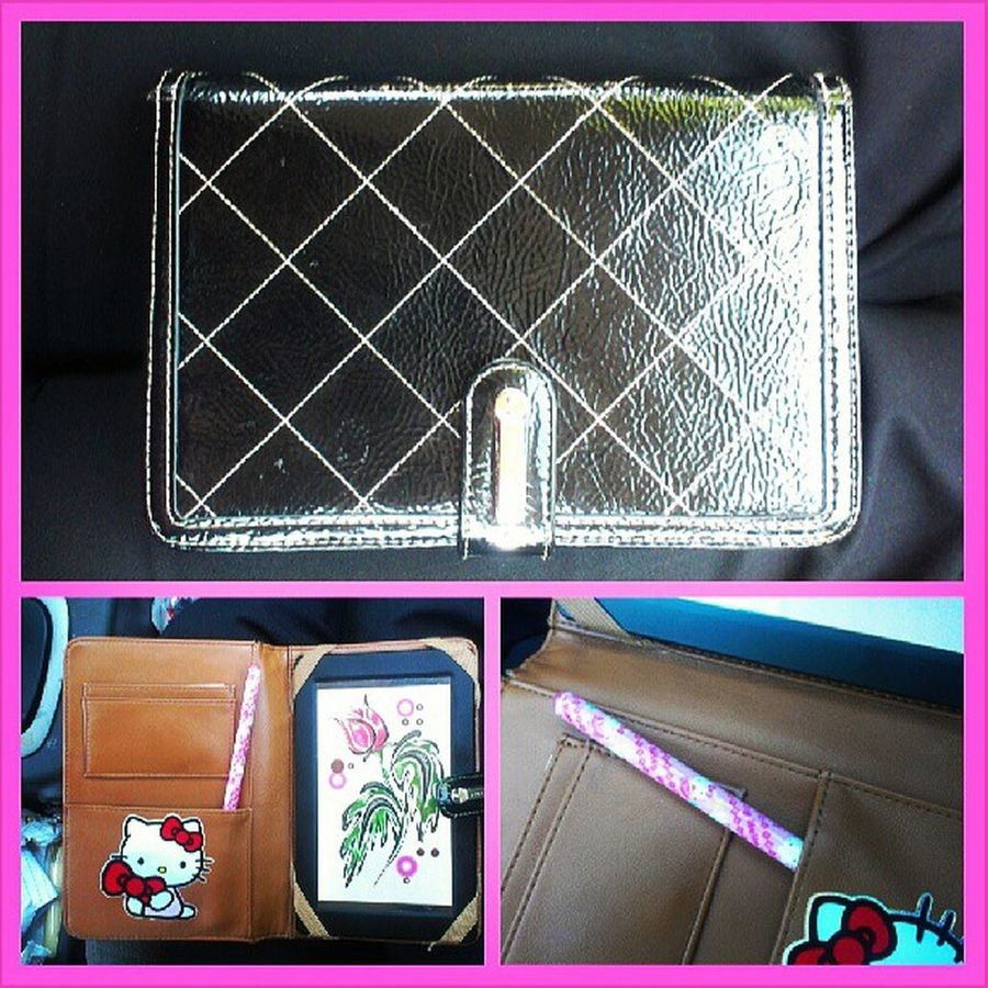 I <3 my #ninewest #tabletcase. It's held up so well. It still looks brand new. I'm doodling on my lunch break, drawing flowers and stuff. I use a rubber tip #hello kitty pen as a #stylis lol. Hello Droid Android Acessories Tablet Sanrio Brands  Designer  Ninewest Androidtablet Tabletcase Stylis Hellikitty Hellokittyjunkie