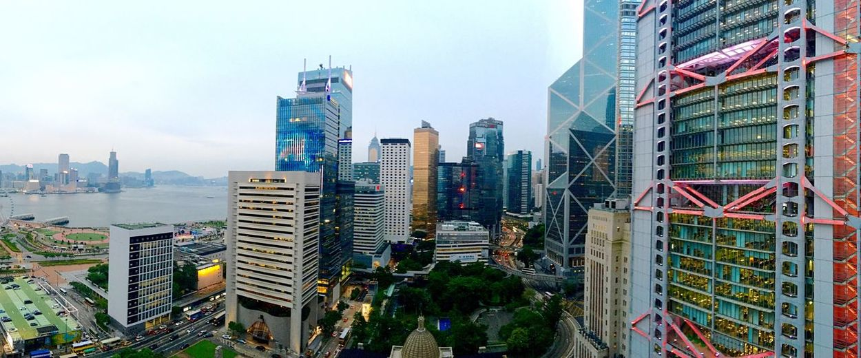 Building Eye4photography  IPhoneography Light And Shadow Building And Sky Hong Kong Hong Kong Architecture Architecture City At Dusk Evening Sky Different Points Of View Cityscapes Panorama