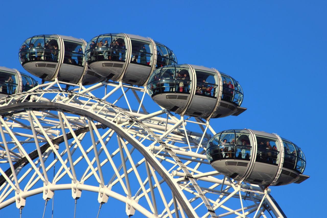 Blue Clear Sky Ferris Wheel Ferris Wheel London Fun Leisure Activity Londen Eye London Riesenrad