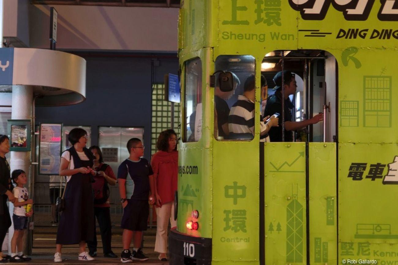 City Life Hong Kong Hong Kong Tramways Nightphotography Pentax Pentax K-3 People Public Transportation Real People Street Photography Streetphotography Tram