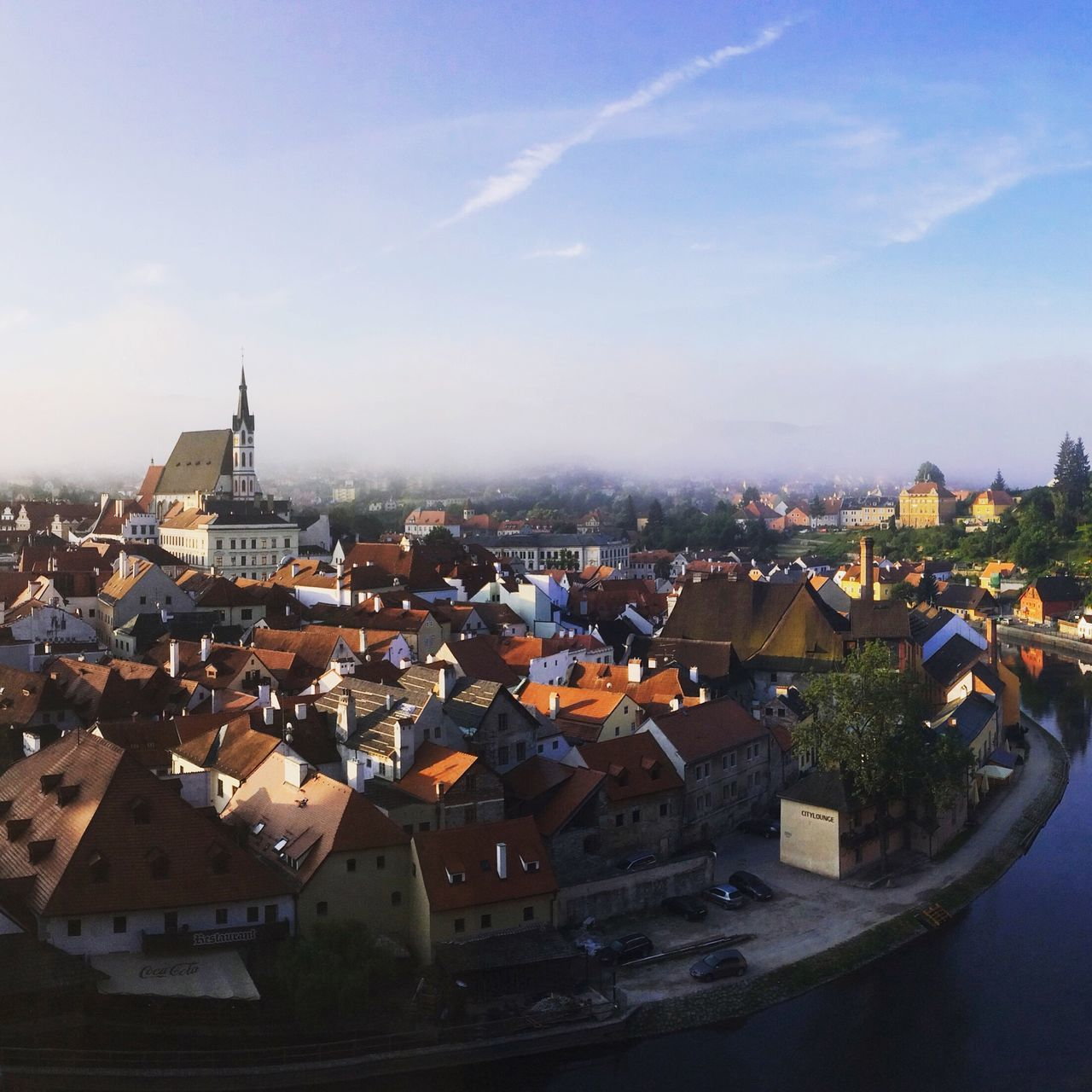 Česky Krumlov, Czech Republic. Photo by Tom Bland. City Town Rooftop Rooftops UNESCO World Heritage Site Český Krumlov Czech Republic Beautiful Urban Old Town View Travel Travel Destinations South Bohemia River Cityscape IPhone IPhoneography Europe Architecture Outdoors