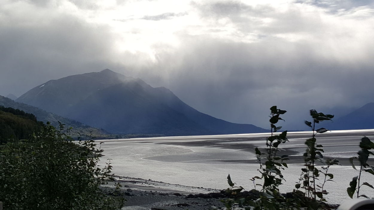 Traveling along Turnagain Arm, Alaska. Travel Scenic Landscapes Nature Mountains In Alaska Inlet Waters Alaska Seward Highway Scenic
