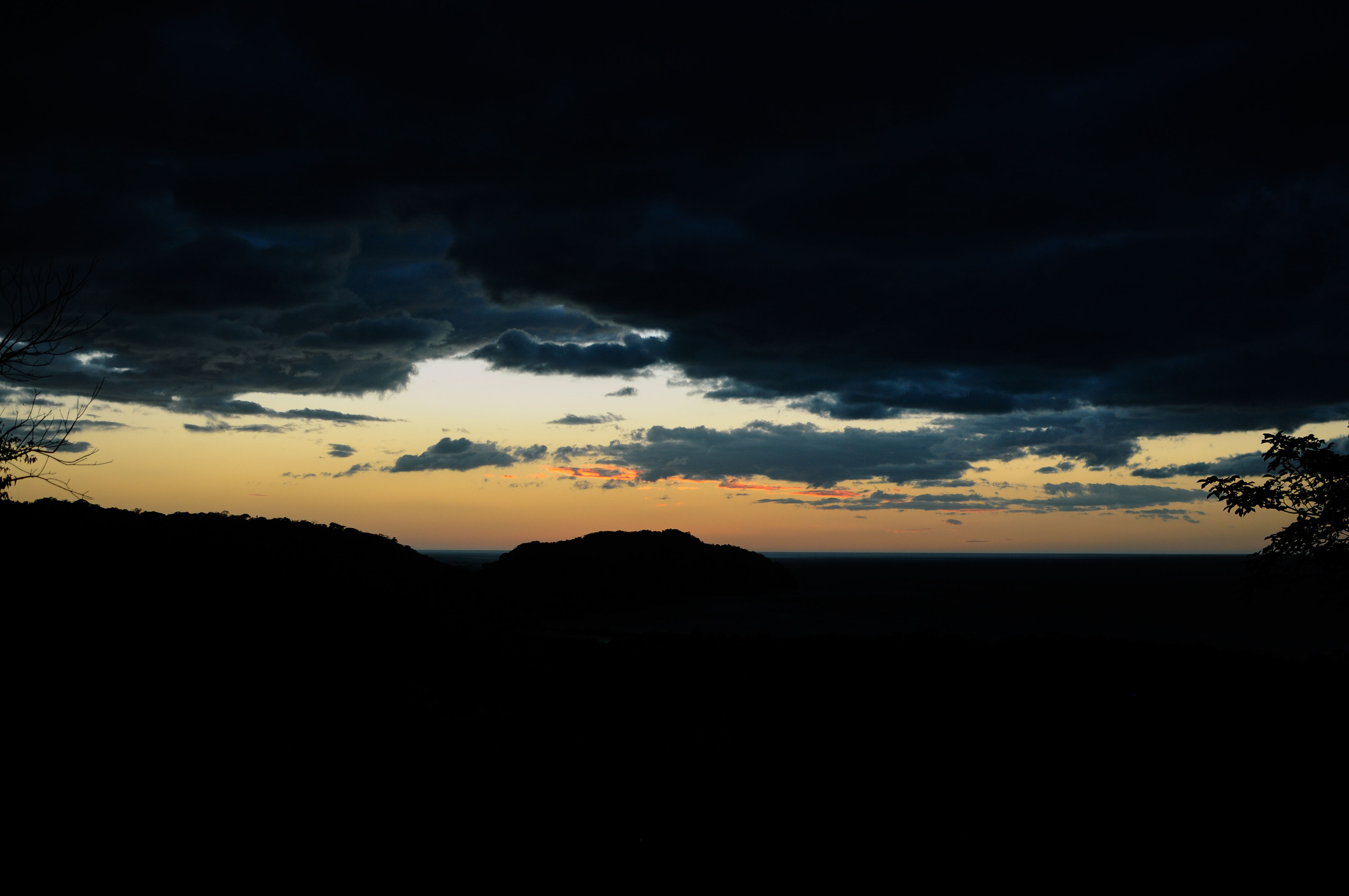 silhouette, sky, sunset, dark, nature, cloud - sky, beauty in nature, scenics, tranquil scene, tranquility, landscape, no people, outdoors, day